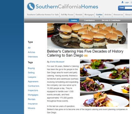 Bekker's in a SouthernCaliforniaHomes.com article