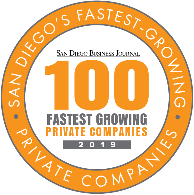 Named one of San Diego's Fastest 100 Growing Companies