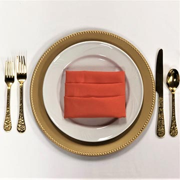 Gold China with Gold Flatware