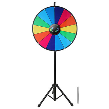Multi-Colored Dry Erase Wheel of Fortune with Tripod Stand
