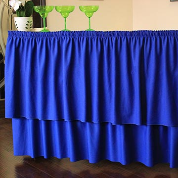 Bar with Blue Drape
