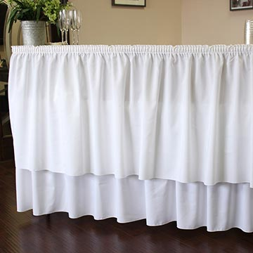 Bar with White Drape
