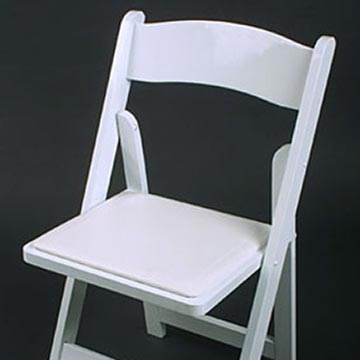 White Resin w Padded Seat