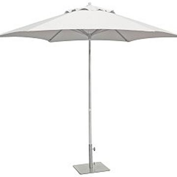 White Market Umbrella with Base