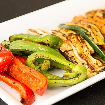 Grilled Vegetables on Platter